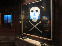 One of two surviving pirate flags.