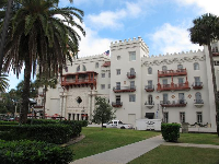 Casa Monica, a hotel next to the Lightner Museum that looks like a castle!