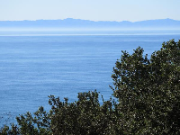 You can see the islands on a clear day.