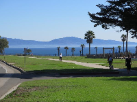 Walking the path at Shoreline Park, with spectacular views to enjoy!