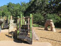 The rock arch and two play structures.