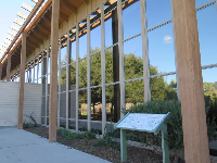 The modern visitor center.