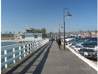 Walking along Santa Cruz pier...