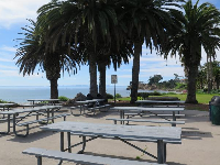 Picnic tables with a view!