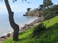 View from above Leadbetter Beach, on Shoreline Drive- a wonderful walk!