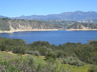 Dreamy view of Lake Cachuma.