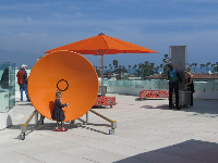 Sound disc on the rooftop.