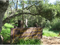 The sign at the trailhead.