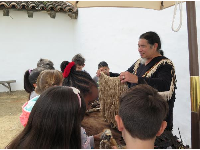 Chumash presentation for school groups, at the presidio.