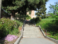 One of the tall stairs that go up to Dickson Court.