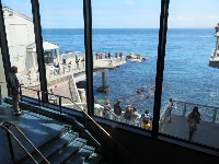 View of the ocean from the stairwell- wow!