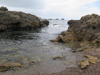 Little rocky cove near Hidden Beach, in Point Lobos State Reserve.