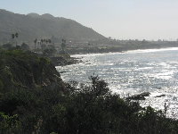 View to the east, of Shell Beach.