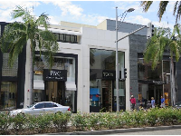 Designer stores on Rodeo Drive.