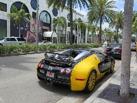 Yellow sportscar.