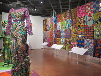 Temporary exhibit on African print fashion.
