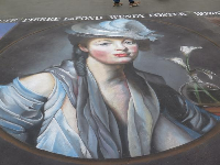 Impressive, huge chalk painting. See these at the end of May at the Santa Barbara Mission!