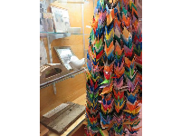 Origami cranes, made by Japanese interns in the Manzanar camp.