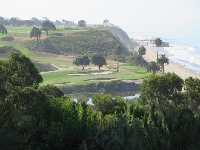 View of the golf course from the loop trail.
