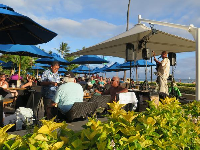 Live music in the evening at the Hale Koa Hotel pool.