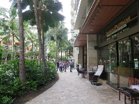 Cafes at Waikiki Beach Walk.