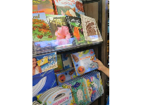 Hawaii-themed books in one of the ABC stores on Kalakaua Ave.