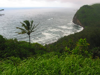 A wild stormy day at Pololu Lookout.