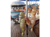 Seahorses to ride on the carousel!