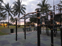 Playground in the evening.