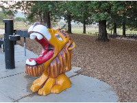 Lion drinking fountain.