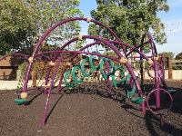 It's fun for kids to climb through these rings.
