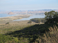 View of Morro Rock and the estuary, on the way to Spooner's Cove.