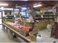 The market, which is the only part of the farm open to the public.