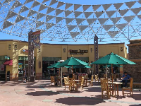 The food court area.