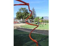 Swirly spinner- the best part of the playground.