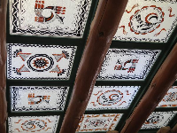 Skylights painted by the CCC workers, in the Painted Desert Inn.