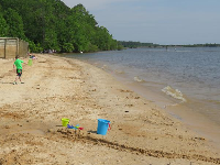 Seaforth Beach offers tons of fun for kids! Listen to the little waves lap the shore.