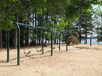 Playground and swings.