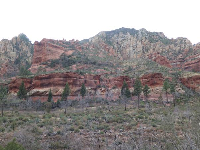 The amazing red rock cliffs!