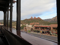 View from Oaxaca Restaurant's upstairs balcony.