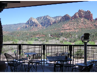 Views from The Shops at Hyatt Pinon Pointe, where Wildflower Bread Company is located.
