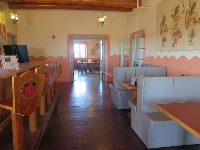 Booths and bar stools at Painted Desert Inn, which was a CCC project.