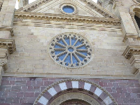 Rose window from the outside.