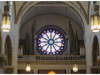 Rose window from inside.