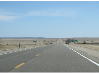 The barren landscape around Santa Fe.