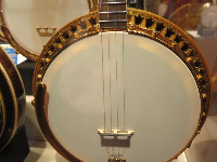 Ludwig Standard, 1931, with elaborate wood marquetry on resonator.