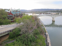 Views from the Walnut Street Bridge- magic!