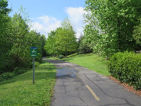 The happy look of Meadowmont Greenway.