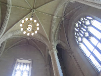 Ceiling of the library lobby.