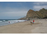 Boys playing in the sand at Sycamore Cove.